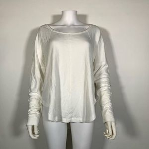 Lucky Brand Thermal Top Shirt Exposed Seam Sz L
